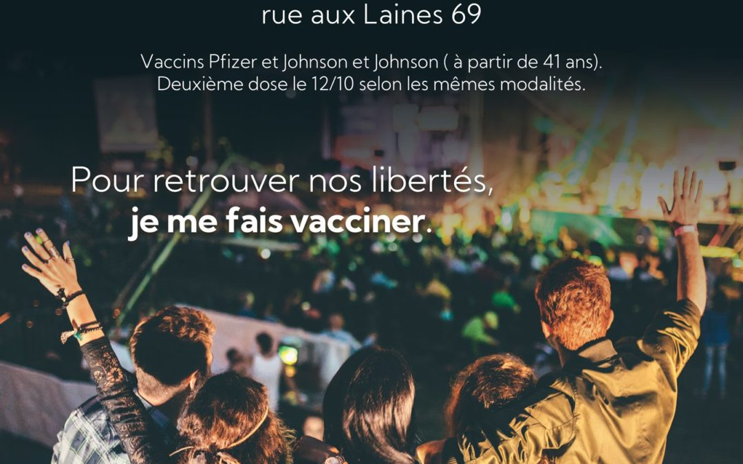Covid19 – Vaccination sans rendez-vous – mardi 21/09/2021 à Verviers