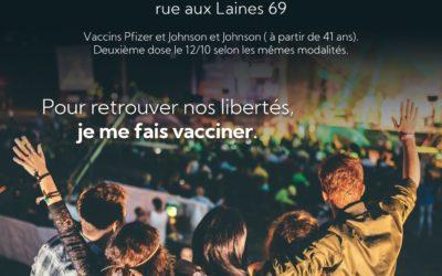 Covid19 – Vaccination sans rendez-vous – mardi 21/09 à Verviers